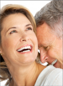 a couple with a healthy smile